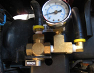 Warn air tank valve kit, Installed